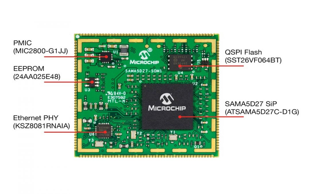 Microchip has taken it one step further and released the SAMA5D2 system-on-module (SOM)